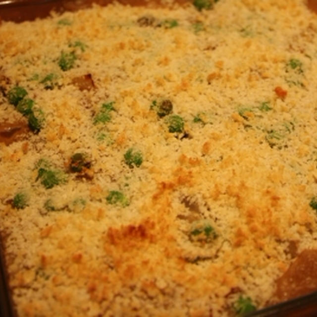 玄米粉シチューの玄米ドリア