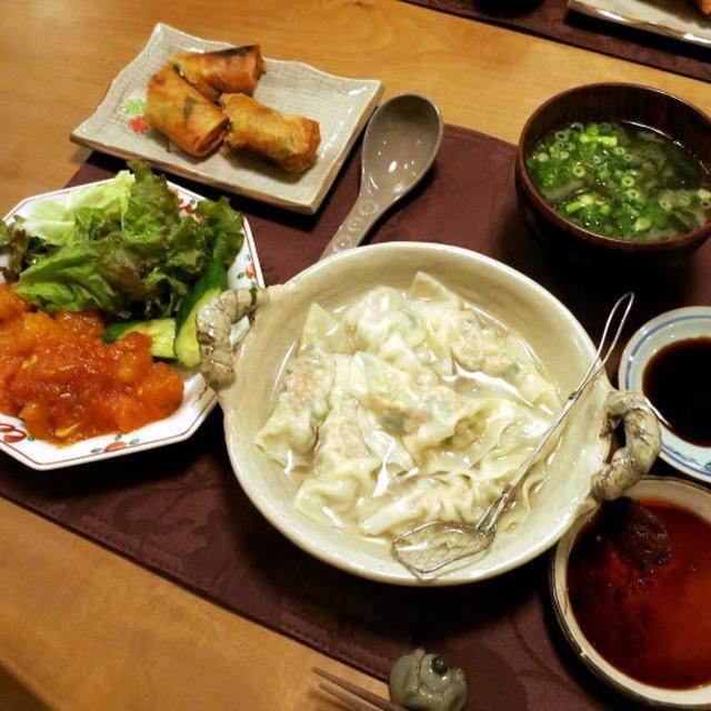 冷蔵庫にあるもので~いろいろ中華の晩ご飯 と よく似てるけど違う花♪