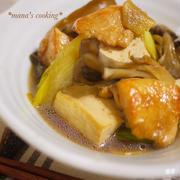 生姜でほっこり優しい味!鶏肉と豆腐のうま煮