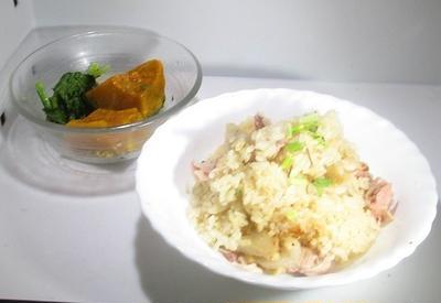 トン汁の具で炊き込みご飯