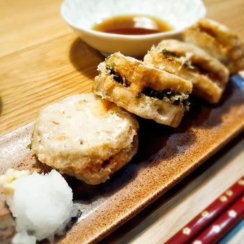 【レシピ】蓮根海老のはさみ揚げ