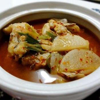 レシピ・タラの旨味を堪能、タラのヤンニョムチゲ