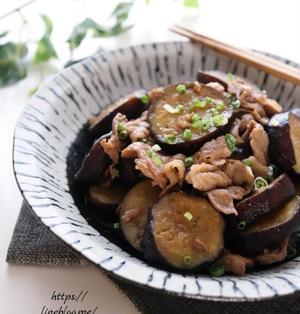 疲れた体に*さっぱり食べられる茄子と豚の生姜焼き