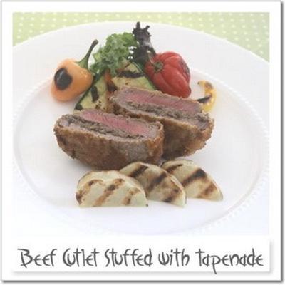 牛ヒレ肉のタプナード挟み揚げ