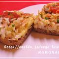 トマトピラフで♪かにたまライスピザ by MOMONAOさん