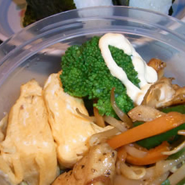 鶏肉と野菜の中華炒め弁当
