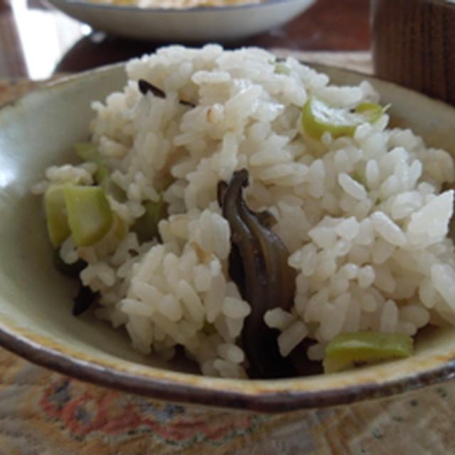 アスパラ&昆布の炊き込みご飯