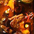 ナツメグ香る昆布締めラムチョップ シナモンさつマッシュとジンジャーかぼマッシュ添え - スパイス大使 - ハロウィン by 青山 金魚さん