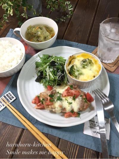 失敗なし!超簡単♪かぼちゃグラタン…洋食プレートで野菜たっぷり晩ごはん。