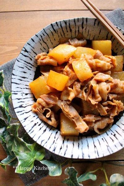煮込み8分でしっかり染み込む*大根と豚バラの韓国煮