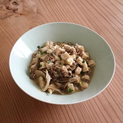 豆腐と舞茸の炒めもの