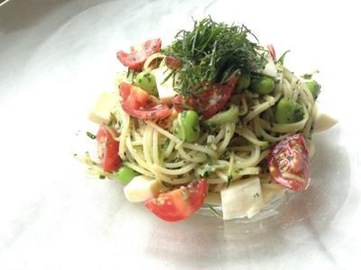 レシピ公開!夏にさっぱり野菜deパスタ(紫蘇ジェノベーゼ)東海北陸フレッシュ便 さらさらサラダ