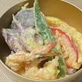【レシピ みょうがと生しいたけ、えびの天ぷらの天丼】かんを高め、一瞬の才覚が光る!