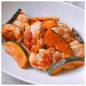 カボチャ&鶏モモ肉のエスニック炒め