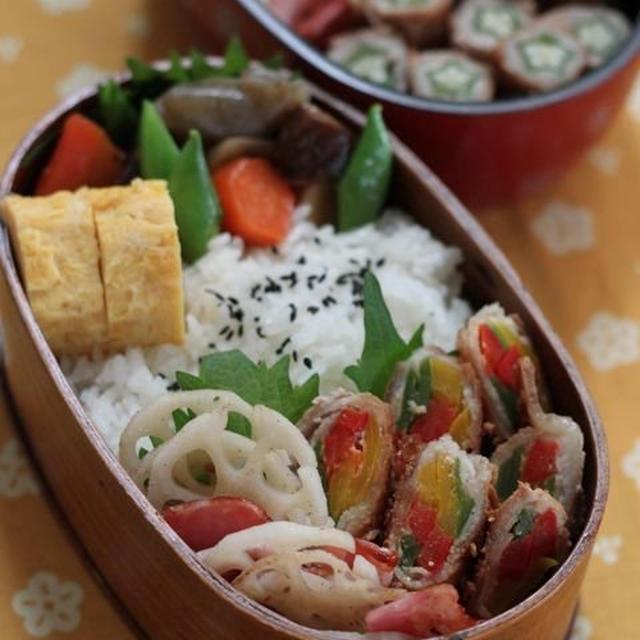 今日のお弁当 ☆ ケンタロウレシピ・大根とカリカリ鶏のサラダ仕立て♪