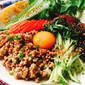 もずくを麺代わりに!肉味噌で台湾混ぜそば by Misuzuさん