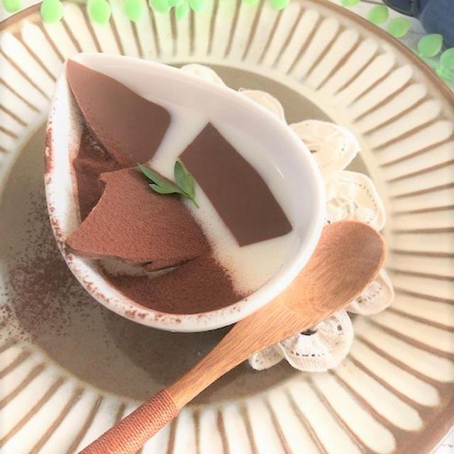 手作りおやつに♬割チョコと白あんの☆ミルクゼリー