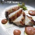 メリクリに^^鶏胸肉の醤油麹Gワインソテーうにクリームソース添え by YUKImamaさん