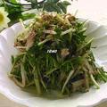 パパッと1品♪水菜ともやしのさば水煮缶サラダ by TOMO(柴犬プリン)さん