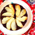 お砂糖なしキャロブとバナナのベイクド寒天ケーキ