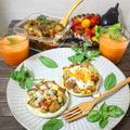朝ベジを楽しもう♪夏野菜たっぷりイングリッシュマフィン・ラタトゥイユトースト