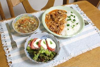 ビーフストロガノフとトマトの生ハムモッツァレラサラダでうちごはん(レシピ付き)