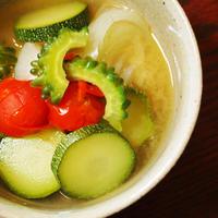 夏野菜の食べるお味噌汁♪