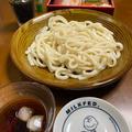 冷やしうどんと、二太郎からの鮨。