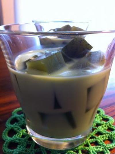 抹茶ミルクとアクエリシャーベット