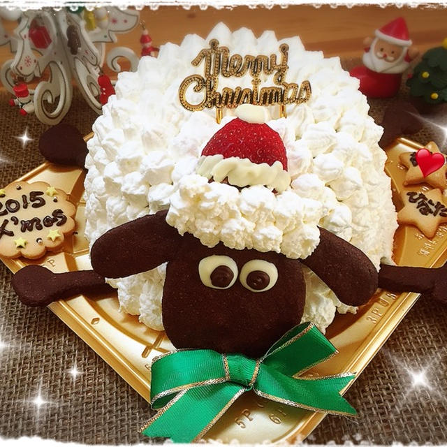 今年のクリスマスイブも親バカ全開です(笑)!! ~クリスマス☆ケーキ'ひつじのショーン'~