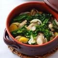 牡蠣のローストと春野菜のココット仕立てHUITRES ROTIES,LEGUMES PRIMEUR EN COCOTTE by mietchiさん