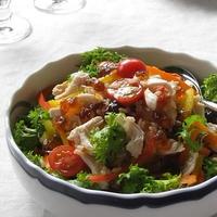 鶏ささみと彩り野菜のグレインズサラダ ~ポン酢ジュレで♪
