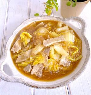 生姜焼き用の豚肉を使って♩豚肉と白菜の春雨煮