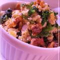 5分以内のスピードレシピ♪香ばしい胡桃とほうれん草のミモザサラダ  by MOMONAOさん