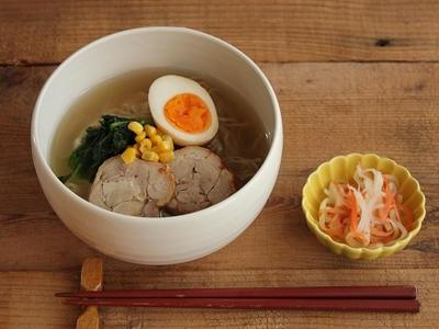 >簡単!一汁一菜献立♪鶏チャーシューでラーメン by 山本リコピンさん