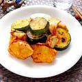 鶏胸肉とズッキーニのキムチ炒め【簡単ロカボなピリ辛おかず】|レシピ・作り方
