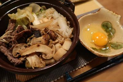 ☆松茸のすき焼き☆風肉豆腐の晩ご飯 と アスターの花♪
