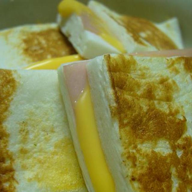 はんぺんのハムチーズはさみ焼き