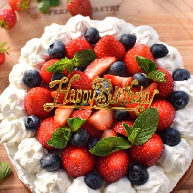 ♡次男のお誕生日♡基本のスポンジケーキ♡レシピあり♡