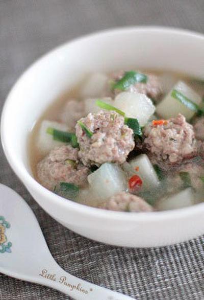 大根と肉団子の中華スープ