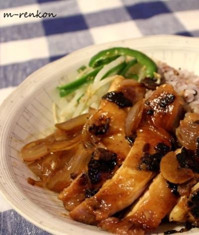 新たまねぎと醤油麹漬け鶏どんぶり