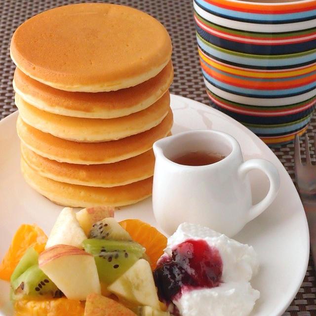 憧れのパンケーキタワーで朝食を | ケーキのようなホットケーキミックス
