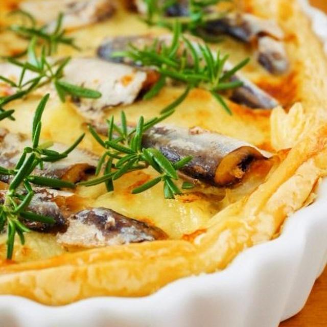 オイルサーディンチーズパイ♪缶詰おつまみ簡単レシピ