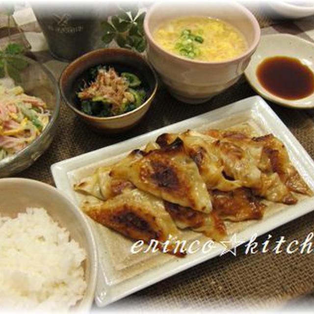キムチーズ焼きシュウマイと、春雨サラダと、蟹スープ☆