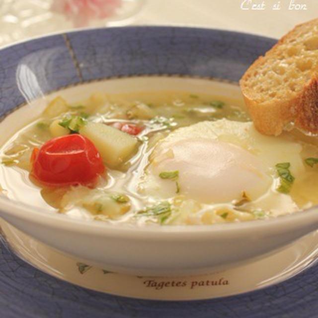新玉ねぎと新じゃがのスープ♪朝ごはんに・ランチに