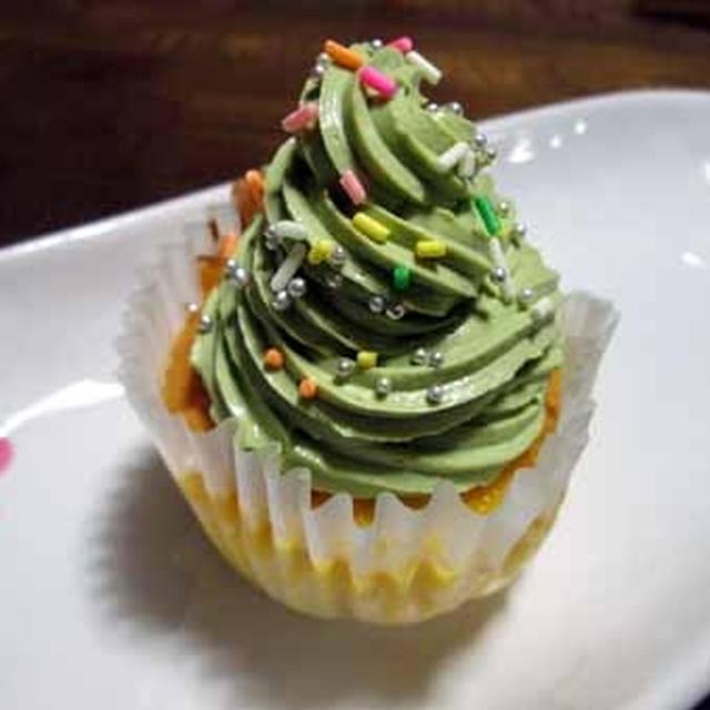 Xmasツリーのカップケーキ