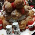 クリスマスのプチシューケーキ