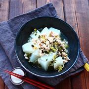 旬の野菜で作りおき * 大根のそぼろ煮