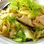 *ローズマリーとかぼす胡椒の春野菜パスタ