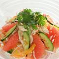 ルビーグレープフルーツのタイ風サラダ